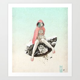 Waiting for the Wolf Art Print