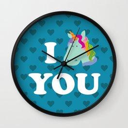 I unicorn you Wall Clock