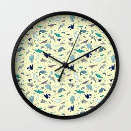 Ocean Life Pattern Wall Clock