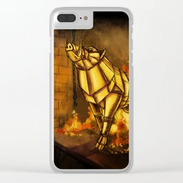 Gullinbursti the Golden Boar Clear iPhone Case