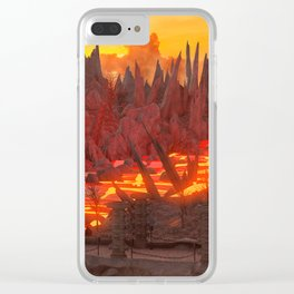 Landscape Volcano Clear iPhone Case