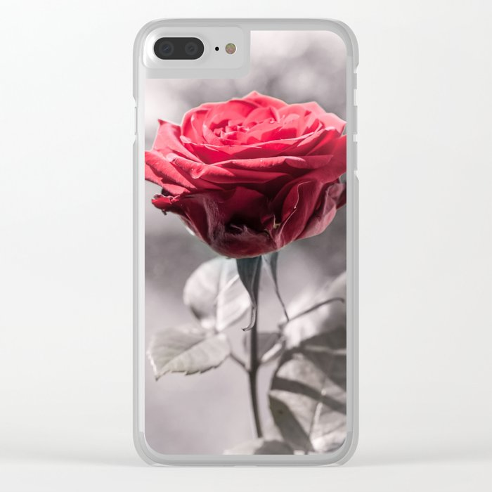 Red Is The Rose Clear iPhone Case