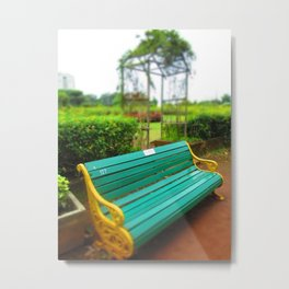 Bench Mark Metal Print