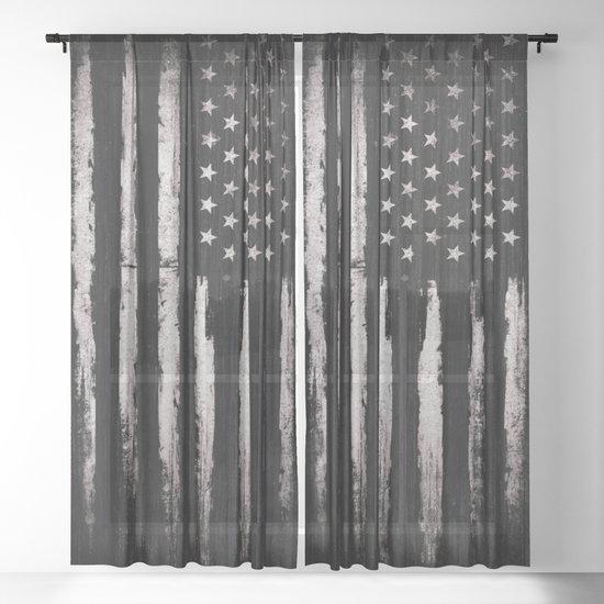 White Grunge American flag by mydream