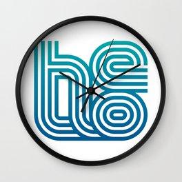 HELLO typography Wall Clock