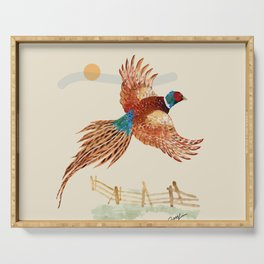 male pheasant Serving Tray