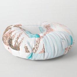Santorini Greece Floor Pillow