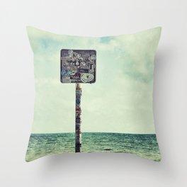 key west water's edge Throw Pillow