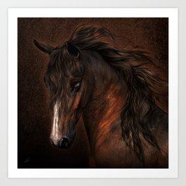 Horse with romantic look Art Print
