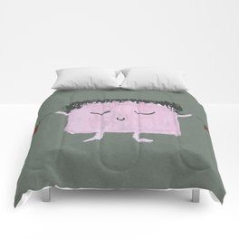 MyHappySquare in love Comforters