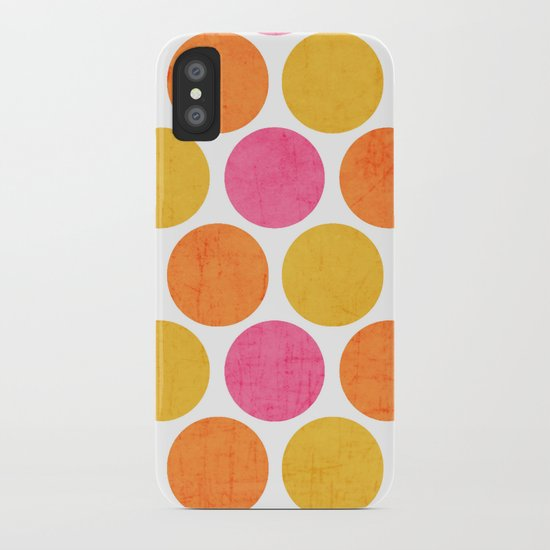 summer polka dots iPhone Case