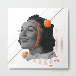 Surrealistic Orange Woman Zesty Art with a Hidden Message  Metal Print
