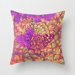 Little brouwn Butterfly Throw Pillow