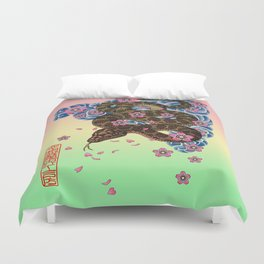tattoo snake  Duvet Cover