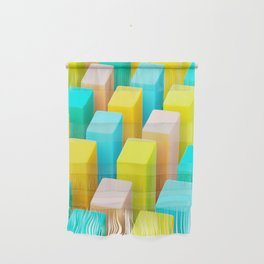 Color Blocking Pastels Wall Hanging