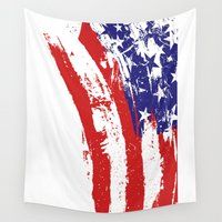 usa Wall Tapestries featuring UsA by Renato Armignacco