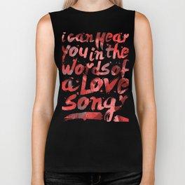 words of a love song Biker Tank