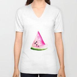 Watercolour Watermelon Unisex V-Neck