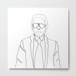 Karl Lagerfeld portrait Metal Print