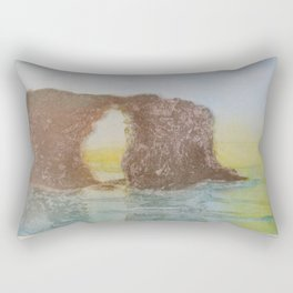 Playa de las catedrales Rectangular Pillow