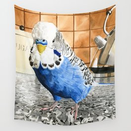 Bob the Budgie Wall Tapestry
