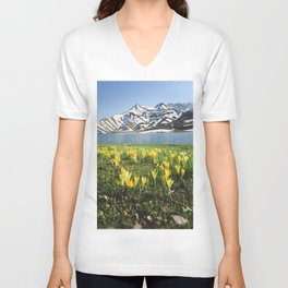 yellow flowers Unisex V-Neck