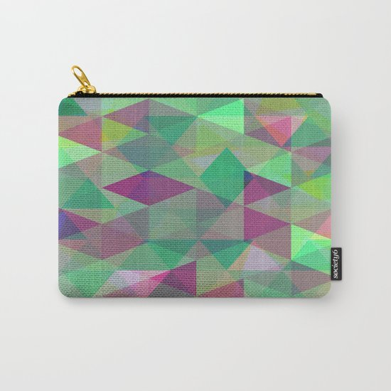 Pastel Triangles Pattern - Abstract, geometric, pastel coloured artwork Carry-All Pouch