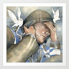 Dreams of freedom II, watercolor Art Print