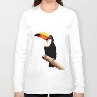 toucan Long Sleeve T-shirts featuring Toucan by Bridget Davidson