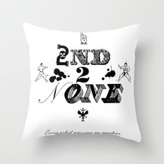 2nd 2 None : black Throw Pillow
