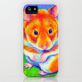 Rainbow Hamster iPhone Case