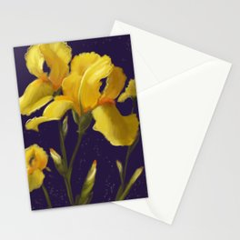 Irises in Yellow Stationery Cards