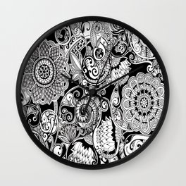 Botanical Pattern Wall Clock