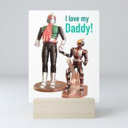 Kamen Rider Father and Son Mini Art Print
