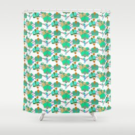 Greeny orchids Shower Curtain