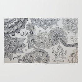 Henna Ganesh Rug