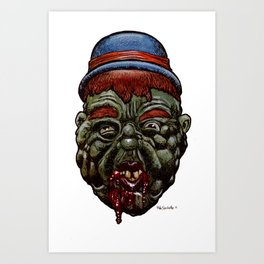 Heads of the Living Dead Zombies: Olly Zombie Art Print