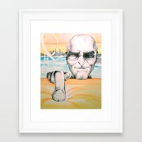 steve jobs Framed Art Prints featuring Steve Jobs by Julie Roth Illustration