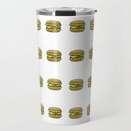Hamburger Repeat Pattern Travel Mug