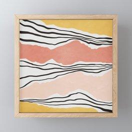 Modern irregular Stripes 01 Framed Mini Art Print