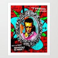 camus Art Prints featuring Camus by Alec Goss