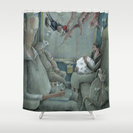 third moment Shower Curtain