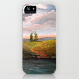 Pond and road iPhone Case