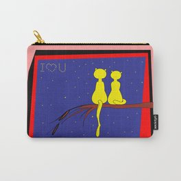 love and cats . art Carry-All Pouch