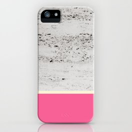 Pink Pale Yellow on Concrete #1 #decor #art #society6 iPhone Case
