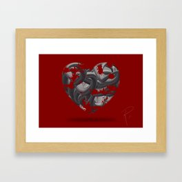 Abstract Love :  things you care about collection Framed Art Print