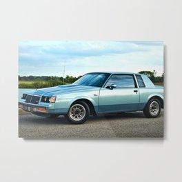 1987 Grand National Regal T-type Turbo in metallic light blue Metal Print