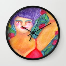 Circus girl Wall Clock
