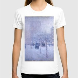 Childe Hassam - Late Afternoon, New York, Winter T-shirt