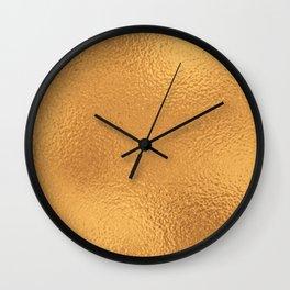 Simply Metallic in Bronze Wall Clock